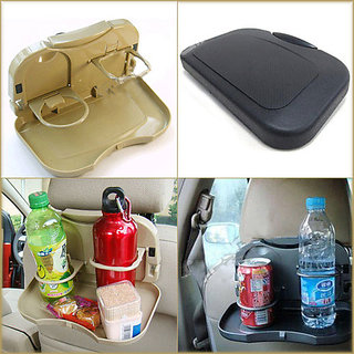 ROMIC AC-435 CAuto Multifunction Folding Car Back Seat Table Drink Food Cup Tablet Tray Holder