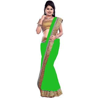 New Designer Green Chiffon Saree