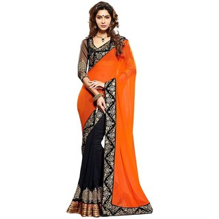 Stylezone Multicoloured Chiffon Saree