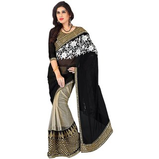 Stylezone Multicoloured Net Saree