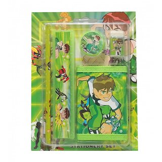 6th Dimensions Ben 10 Printed School Stationery Set