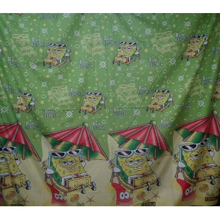 Kids Beautiful Cotton Double Bed Sheet With 2 Pillow Covers - Bob Esponja Design
