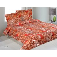 Serene Queen Size Cotton Bed Sheet With 2 Pillow Covers 10B