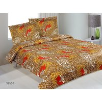 Serene Queen Size Cotton Bed Sheet With 2 Pillow Covers 10A