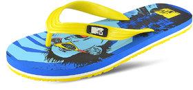 MTV Men's Skat Blue and Yellow Flip Flops