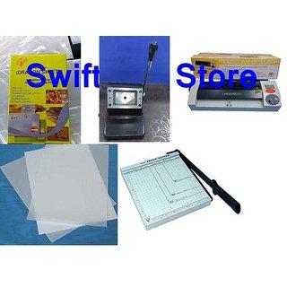 PVC Dragon Sheet + Die Cutter + PVC Paper Cutter + Lamination Machine Combo  Offer