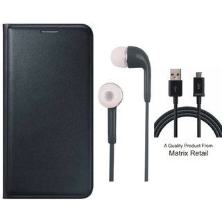 Lenovo K6 Power Leather Finish Flip Cover with Free Earphones and USB Cable
