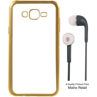 Lenovo K5 Note ( 5.5 Inch ) Chrome TPU Back Cover with Golden Electroplated Edges with Free Earphones