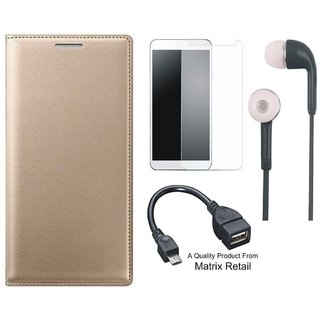 ather Flip Cover for Coolpad Note 3 Lite ith Free  Glass, Earphes and  Cab