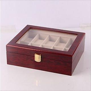 buy 6th dimensions 10 slots wood watch box big man wristwatch case
