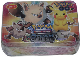 Pokemon XY Steam Siege Booster Box Trading Card Game 2018 ALL NEW CARD  TIN
