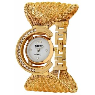 NUBELA Women Watches Glory Gorgeous Golden Strap Wrist Watch for Party/Wedding