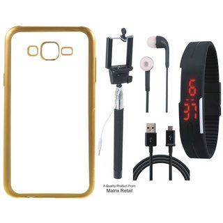 Chrome Tpu Back Cover for Asus fe 2 Laser ZE550KL 5.5 ith Golden Ectroplated Edges ith Free , Digtal atch, Earphes and  Cab