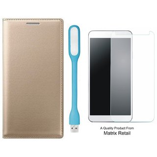 novo a7700 ather Finish Flip Cover ith Free  Glas and  D Light by