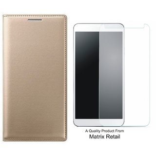 Coolpad Note 3s Leather Finish Flip Cover with Free Tempered Glass by