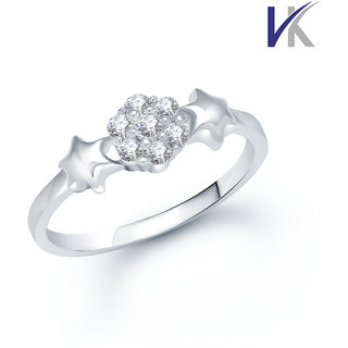 VK Jewels Fancy Cubic Zirconia (CZ) Rhodium  Ring - FR1014R