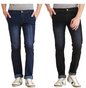 Balino London Stylish Dark Blue, Black Jeans For Men