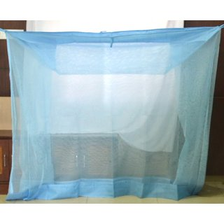 Dreams Double Bed Mosquito net Blue Light Weight 6x6.5 ft With Border