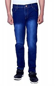 Balino London Stylish Shaded Dark Blue Jeans For Men