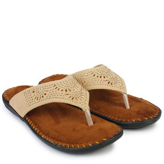 Do Bhai Women's Cream Flats