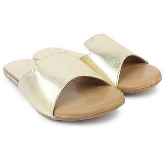 Do Bhai Women's Gold Flats