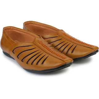 Do Bhai Men's Tan Mojari