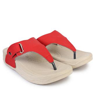 Do Bhai Women's Red Flats
