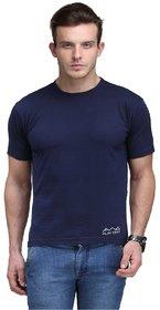 Scott International Men'S Navy Blue Dryfit Polyester T-Shirt
