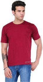 Scott International Men'S Maroon Dryfit Polyester T-Shirt