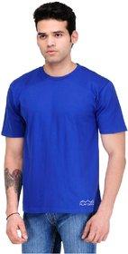 Scott International Men'S Royal Blue Dryfit Polyester T-Shirt