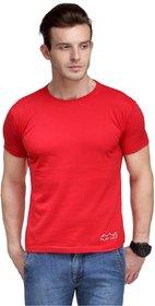 Scott International Men'S Red Dryfit Polyester T-Shirt