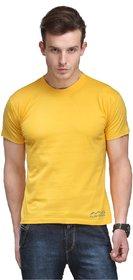 Scott International Men'S Yellow Dryfit Polyester T-Shirt