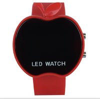 Apple Cut Shape Red Digital Watch For Boys And Girls