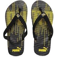 Puma Unisex Animatrix Black Yellow Flip Flops
