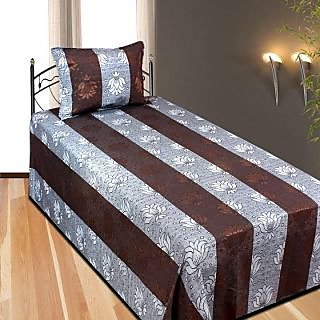 Super Cotton Single Bed Sheet Without Pillow Cover ( Coffee )