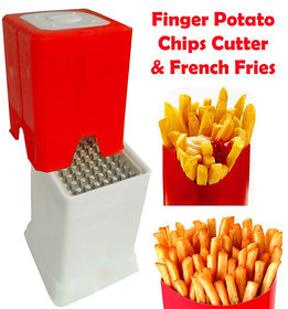 Plastic Red  White Finger Potato Chips French Fries Cutter (No. of Pieces 1)