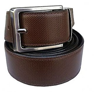 Pu Leather Reversible Formal Semi Formal Belt For All Season Self Textured