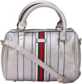 ILU Silver Duffle Bag Sling Bag Shoulder Bag Tote Bag H