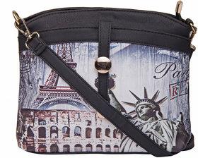 ILU Sling Bag Cross Body Bag Buttoned Bag Shoulder Bag