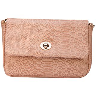 bb6fa14fcf54 ILU Faux Leather Coral Pink Sling Bag Cross Body Bag Shoulder Bag Handbag  Party Wedding Casual Formal Festive Clutches for Women Girls Ladies