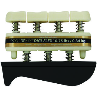 CanDo - Digi Flex Hand Exerciser - Tan xx-light - Finger (0.75 lbs) / Hand (2.5 lbs) - Pack of 1 Pcs