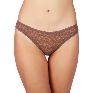 Women's brown brief fashionable panty (Pack of 1 )