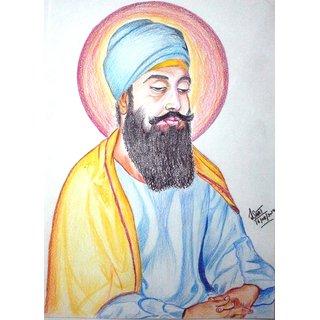 Guru Tegh Bahadur Sahib Ji's Hand made sketch
