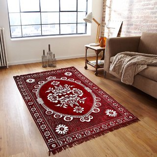peponi Bring Home Premium Living Room Valvet touch Carpet rug -(7 X 5 , Multicolor)