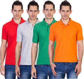 kaizen Multi Regular Fit Polo T Shirt Pack of 4