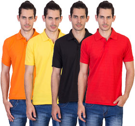 kaizen Multi Regular Fit Polo T Shirt Pack of 4