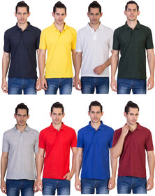kaizen Multi Regular Fit Polo T Shirt Pack of 8