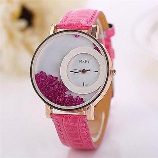 LEBENZEIT Diamond Pink fancy Watch for Girls BY Prushti Fashion