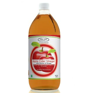 Sinew Nutrition Raw Apple Cider Vinegar (Unfiltered  Unpasteurised) with strands of Mother 350ml
