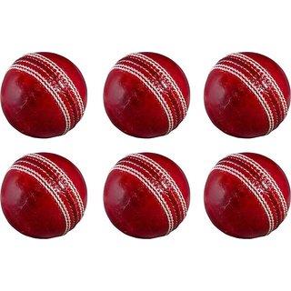 Cricket Kit Combo Set Of 6 Balls Cricket Ball - Size 5, Diameter 5 cm  (Pack of 6, Maroon)
